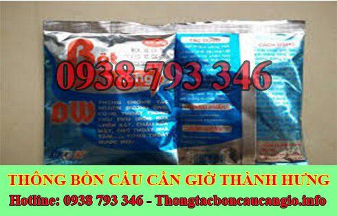Bán bột thông cống nghẹt Huyện Cần Giờ giá rẻ 0938793346