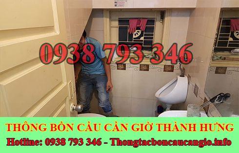 Xử lý mùi hôi bồn cầu toilet nhà vệ sinh Huyện Cần Giờ Thành Hưng.
