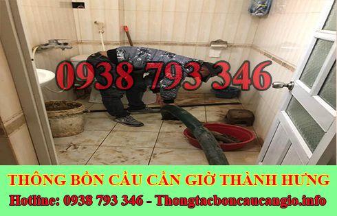Sửa cống nghẹt Huyện Cần Giờ giá rẻ 0938793346 BH 5năm