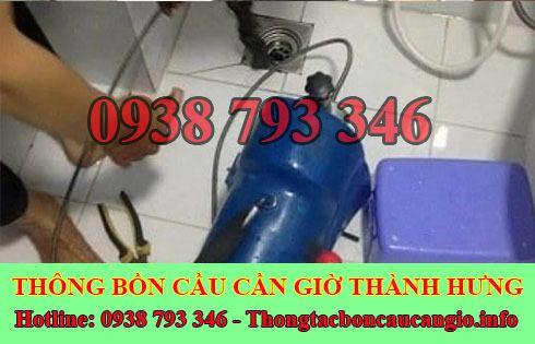 Thông đường ống nước bị tắc nghẹt Huyện Cần Giờ 0938793346