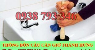 Thông bồn rửa mặt huyện Cần Giờ Thành Hưng 55K BH 35 tháng